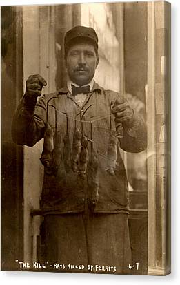 New York, Rat Catcher, Reads The Kill - Canvas Print by Everett