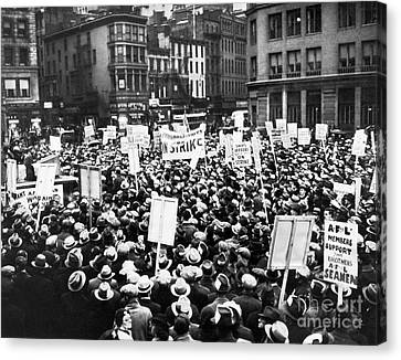 New York: Seamens Strike Canvas Print by Granger