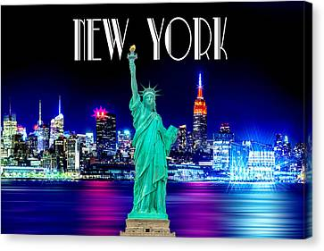 Downtown Canvas Print - New York Shines by Az Jackson