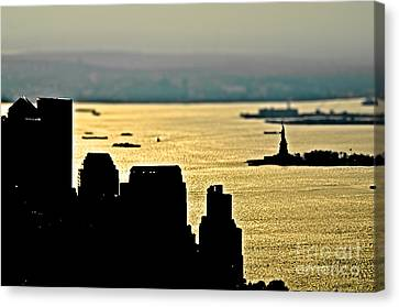 New York Silhouette Canvas Print by Alessandro Giorgi Art Photography