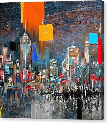 New York Skyline 198 1 Canvas Print by Mawra Tahreem