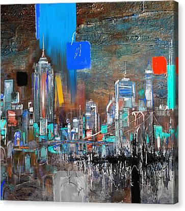 New York Skyline 198 3 Canvas Print by Mawra Tahreem