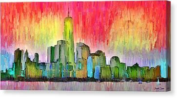 New York Skyline 3 - Da Canvas Print