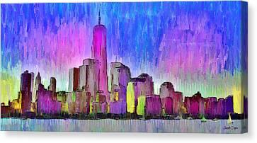 New York Skyline 4 - Da Canvas Print