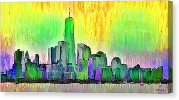 New York Skyline 5 - Da Canvas Print by Leonardo Digenio