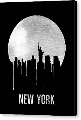 Liberty Canvas Print - New York Skyline Black by Naxart Studio