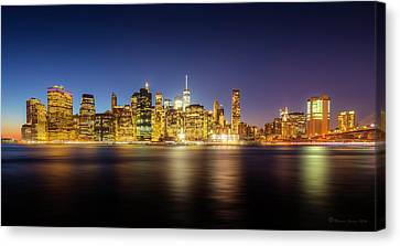 New York Skyline Canvas Print by Marvin Spates