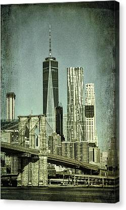 New York Skyline Canvas Print by Mike Burgquist