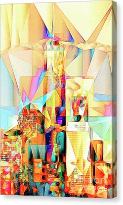 Canvas Print featuring the photograph New York Skyline World Trade Center In Abstract Cubism 20170326 by Wingsdomain Art and Photography