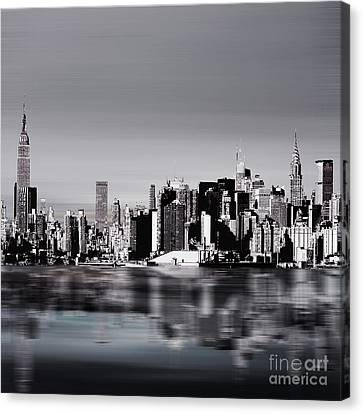 New York Skylines 04 Canvas Print by Gull G