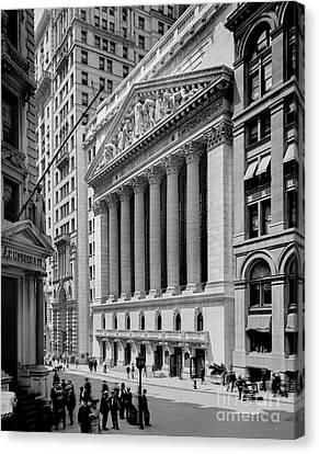 New York Stock Exchange Circa 1904 Canvas Print