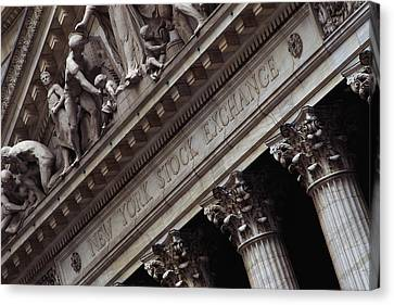 Historic Site Canvas Print - New York Stock Exchange New York Ny by Panoramic Images