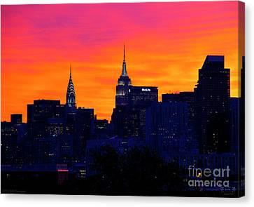 New York Sunset 1 Canvas Print