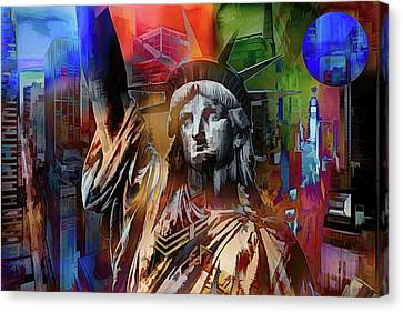 New York Symbols  Canvas Print