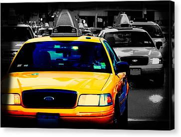 New York Taxi Canvas Print by Christopher Woods