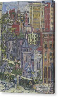 New York  The Little Church Around The Corner, 1920 Canvas Print by Dorothea Adelheid Dreier