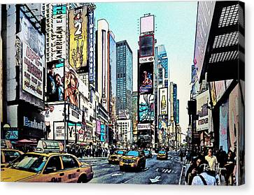 New York Times Square Canvas Print by Russ Harris