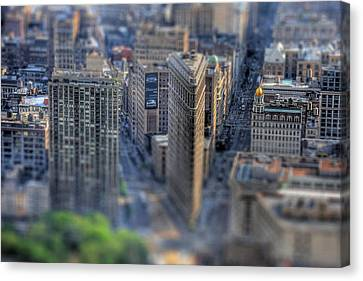 New York Toy Story - Flatiron Building Canvas Print