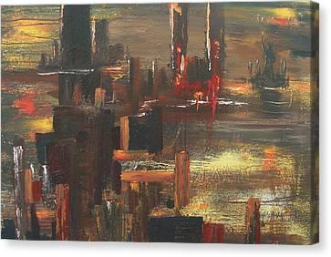 New York Tragedy Canvas Print by Miroslaw  Chelchowski