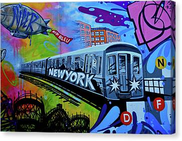 New York Train Canvas Print by Joan Reese