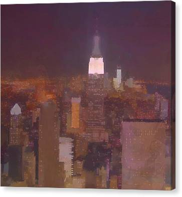 New York View Top Of The Rock  Canvas Print by Dan Sproul