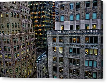 Canvas Print featuring the photograph New York Windows by Joan Reese