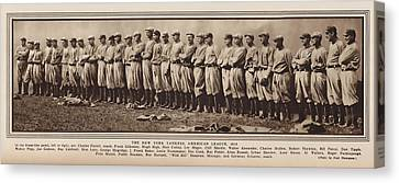 Canvas Print featuring the photograph New York Yankees 1916 by Daniel Hagerman