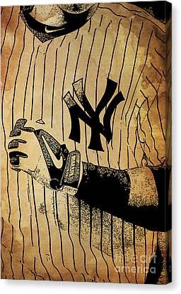 New York Yankees Baseball Team Vintage Card Canvas Print by Pablo Franchi
