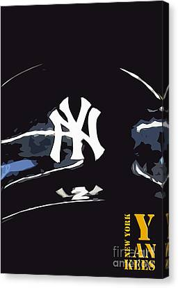 Yankees Canvas Print - New York Yankees Black by Pablo Franchi