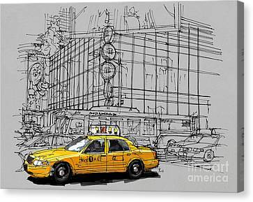 New York Yellow Cab Canvas Print by Pablo Franchi