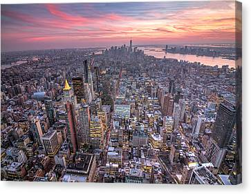 New York Canvas Print by Zev Steinhardt