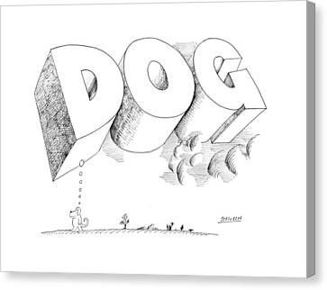 Existence Canvas Print - New Yorker April 25th, 1970 by Saul Steinberg