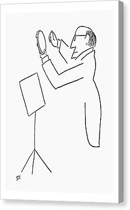 Orchestra Canvas Print - New Yorker February 2nd, 1957 by Saul Steinberg