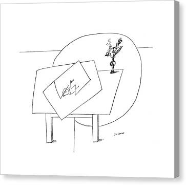 Escher Canvas Print - New Yorker November 5th, 1966 by Saul Steinberg