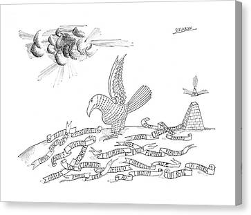 Etc Canvas Print - New Yorker October 26th, 1968 by Saul Steinberg