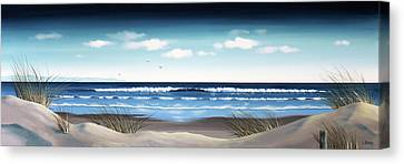 New Zealand Brighton Beach By Linelle Stacey Canvas Print by Linelle Stacey