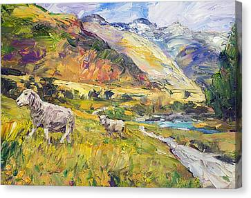New Zealand Pastoral Canvas Print by Steven Boone