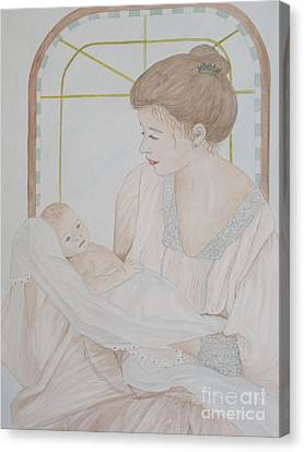 Newborn - Jacqueline Ruby Canvas Print