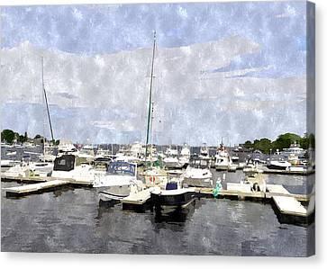 Newburyport Harbor Nhwc Canvas Print