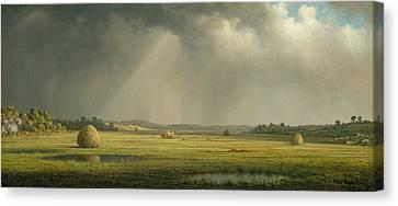 Newburyport Meadows  Canvas Print by Martin Johnson Heade