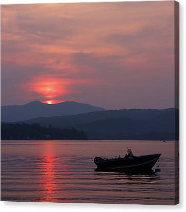 Newfound Lake, Nh Canvas Print by Jerry LoFaro