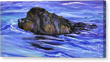 Newfoundland Oil Painting Canvas Print by Mary Jo Zorad