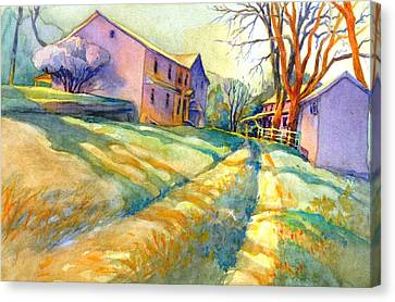 Brandywine Canvas Print - Newlin Grist Mill, No 3 by Virgil Carter