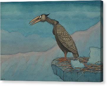 Prey Canvas Print - Newly Hatched Bird Of Prey by Herbert Crowley