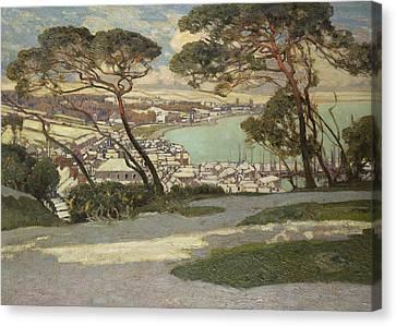 Dappled Light Canvas Print - Newlyn   Penzance by Sir Alfred East