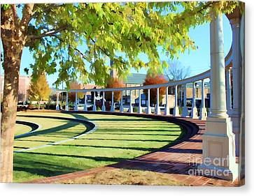 Canvas Print featuring the photograph Newnan Park Ampitheatre by Roberta Byram