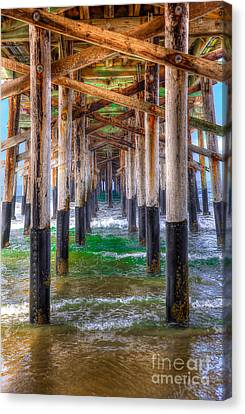 Canvas Print featuring the photograph Newport Beach Pier - Summertime by Jim Carrell