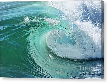 Canvas Print featuring the photograph Newport Beach Wave Curl by Eddie Yerkish