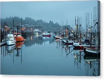 Newport Fishing Boats Canvas Print by Jon Glaser