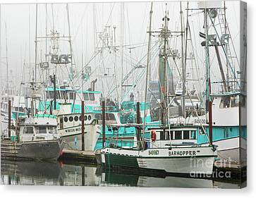 Newport, Oregon Fishing Fleet Canvas Print by Jerry Fornarotto